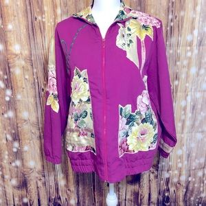 VINTAGE Southern Stitches and More floral jacket